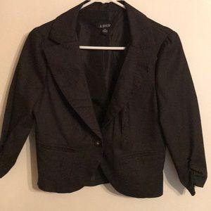 3/4 Sleeve Pinstriped cropped Blazer